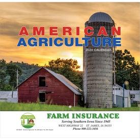Custom American Agriculture Wall Calendar