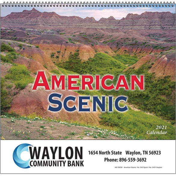 See Item American Scenic Wall Calendar