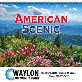 American Scenic Wall Calendar for Customization