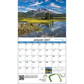 American Scenic Wall Calendar for your School