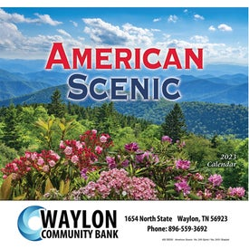 American Scenic Wall Calendar (Stapled)