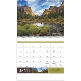 American Splendor Large Wall Calendar for Customization