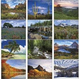 Personalized American Splendor Large Wall Calendar