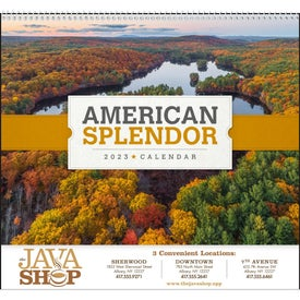 American Splendor Large Wall Calendar with Your Slogan