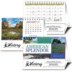 Monogrammed American Splendor Desk Calendar