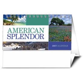 American Splendor Desk Calendar with Your Slogan