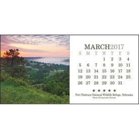Imprinted American Splendor Desk Calendar