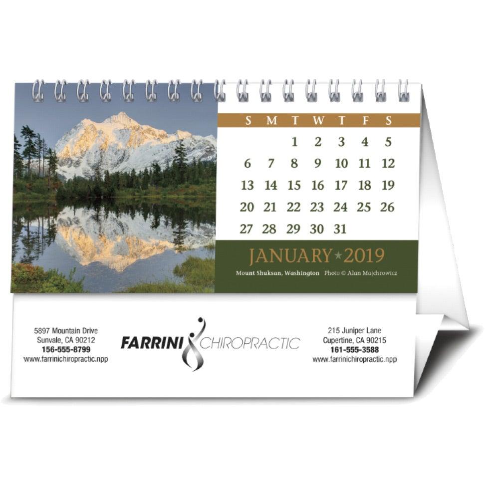 Promotional 2019 American Splendor Desk Calendars With Custom Logo For 1 297 Ea