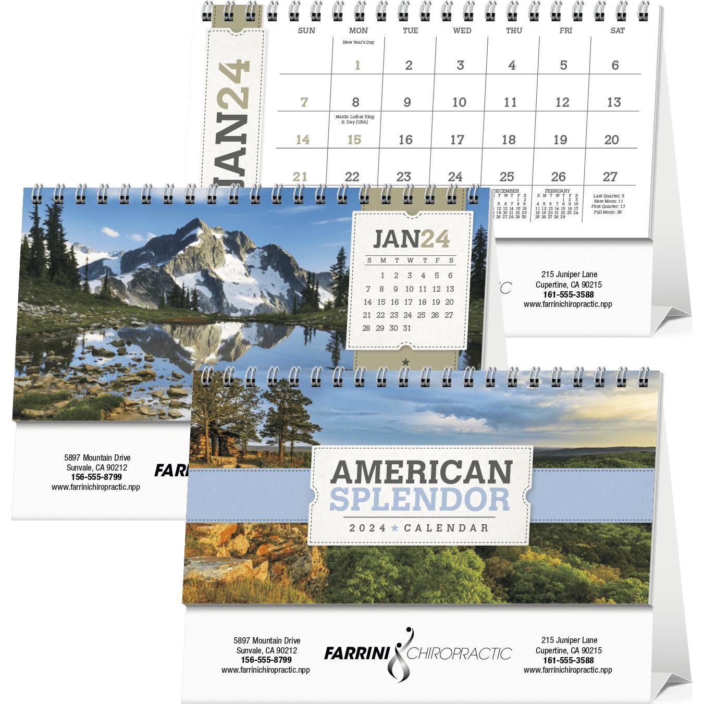 See Item American Splendor Desk Calendar 2019 For Your Organization