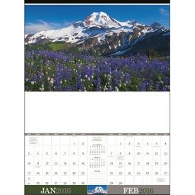 Monogrammed American Splendor Large Executive Calendar