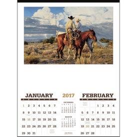Customized American West Executive Calendar by Tim Cox