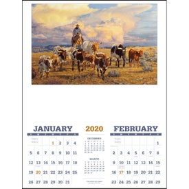 American West Executive Calendar by Tim Cox (2020)