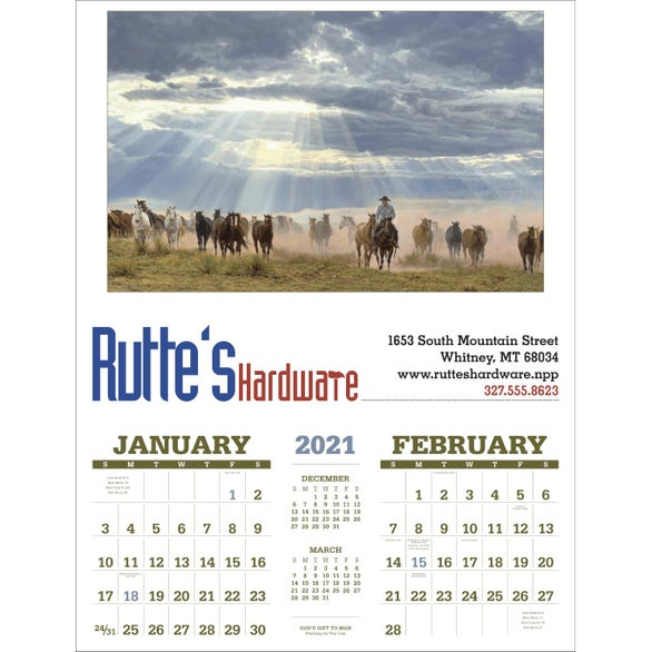 See Item American West Executive Calendar by Tim Cox