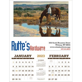 American West Executive Calendar by Tim Cox with Your Slogan