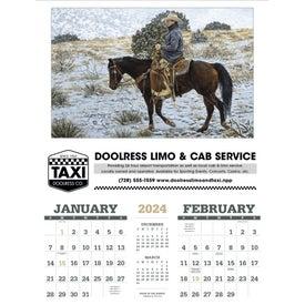 American West Executive Calendar by Tim Cox (2017)