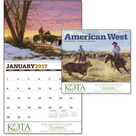 Logo American West by Tim Cox Wall Calendar