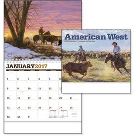 American West by Tim Cox Wall Calendar with Your Slogan