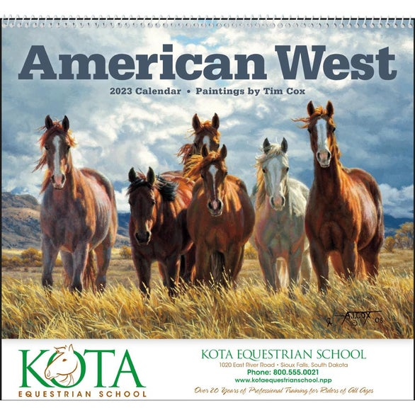 Promotional  American West By Tim Cox Wall Calendars With