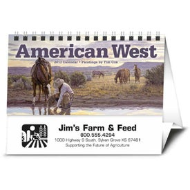 American West by Tim Cox Desk Printed with Your Logo