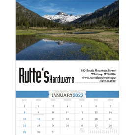 Imprinted American Splendor Calendar with Date Blocks