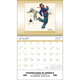 An American Illustrator Wall Calendar for Advertising