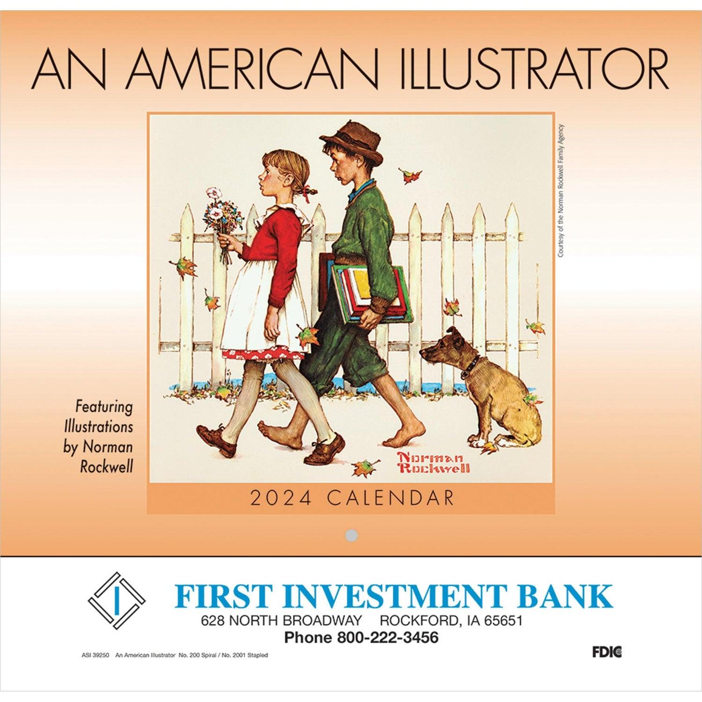 An American Illustrator Wall Calendar (Stapled)