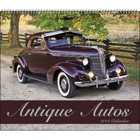 Antique Autos Spiral Calendar Branded with Your Logo