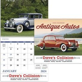 Promotional Antique Autos Spiral Calendar