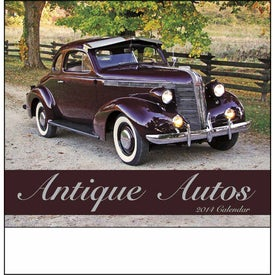 Monogrammed Antique Autos Stapled Calendar