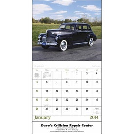 Printed Antique Autos Stapled Calendar