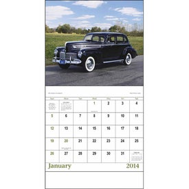 Advertising Antique Autos Stapled Calendar