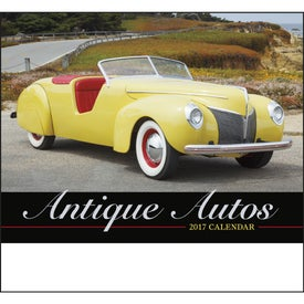 Antique Autos Stapled Calendar for Promotion