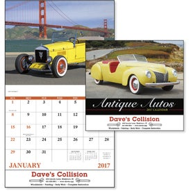 Antique Autos Stapled Calendar for Your Company