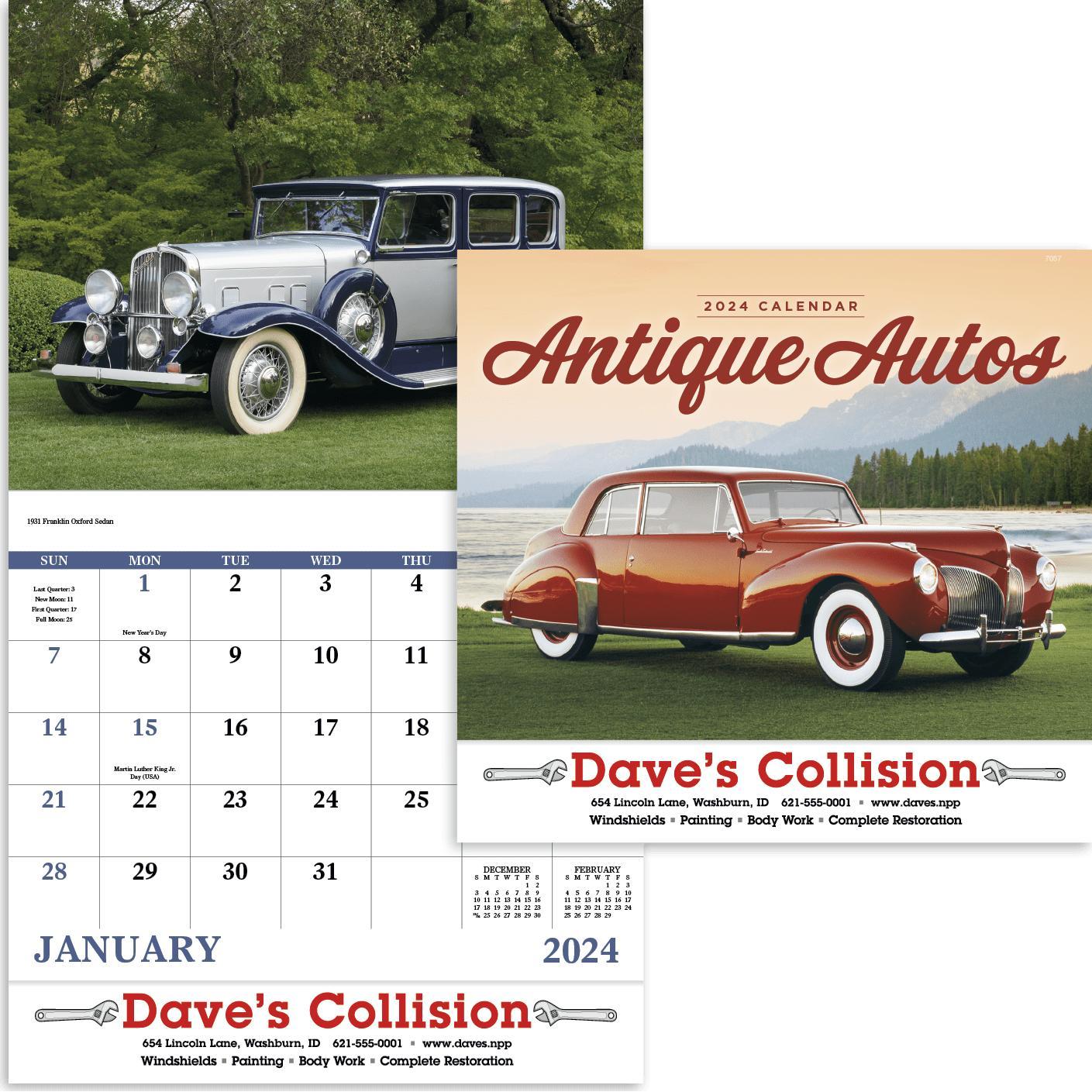 Antique Autos Stapled Calendar (2020)