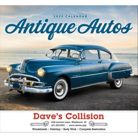 Antique Autos Stapled Calendar for Your Church