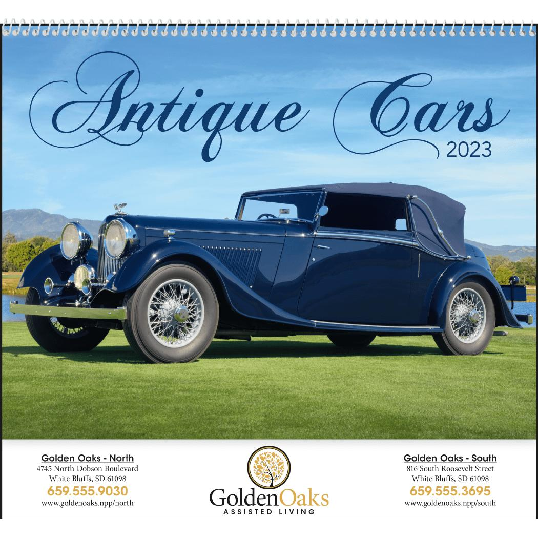 Promotional 2019 Antique Cars Appointment Calendars with Custom Logo ...
