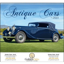 Advertising Antique Cars Appointment Calendar
