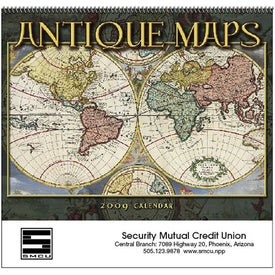 Personalized Antique Maps Calendar
