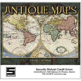 Personalized Antique Maps Calendar