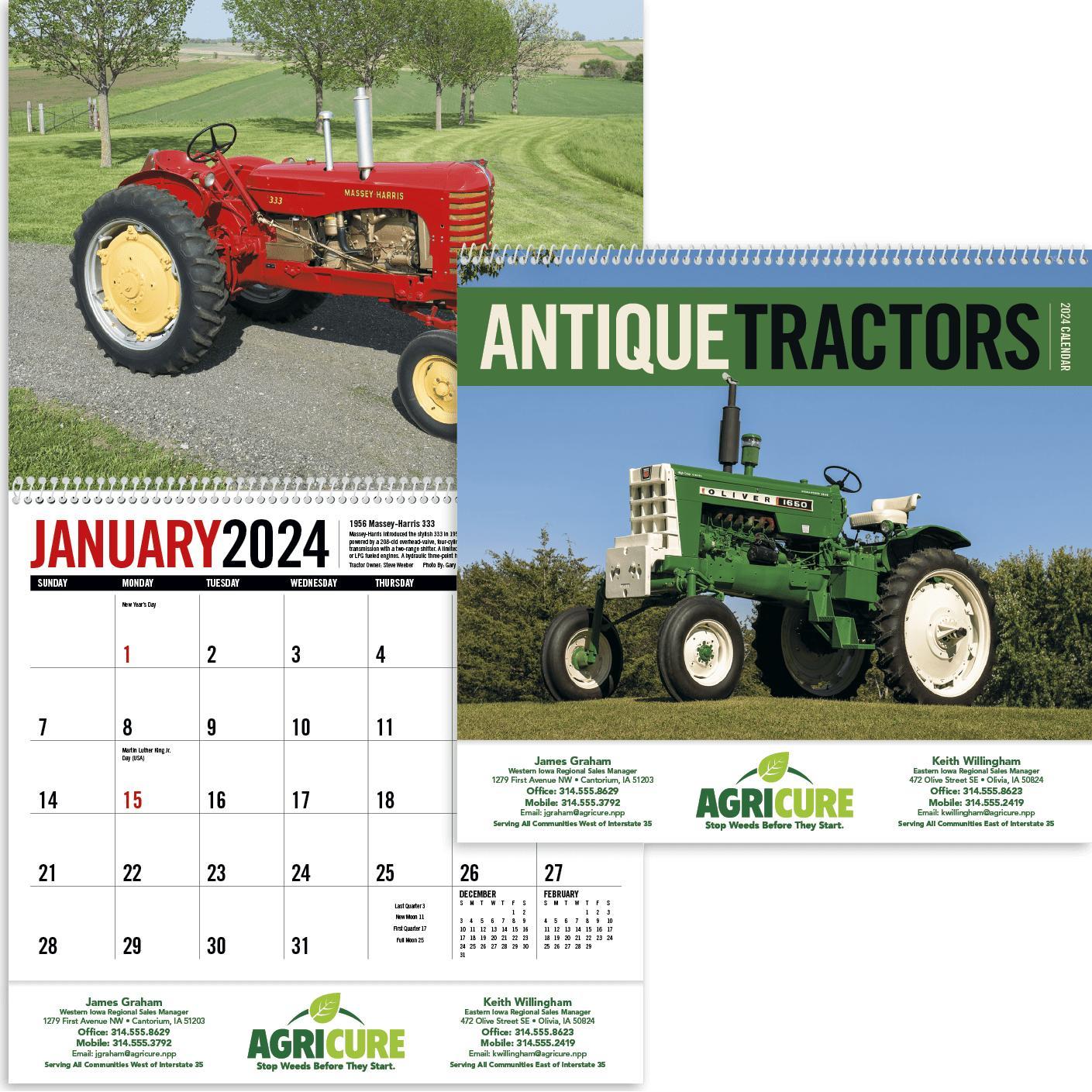 Antique Tractors Appointment Calendar (2020)