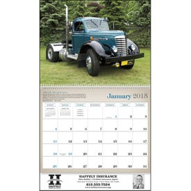 Monogrammed Antique Trucks Appointment Calendar
