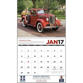 Personalized Antique Trucks Appointment Calendar