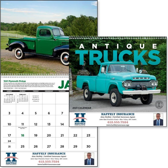 See Item Antique Trucks Appointment Calendar