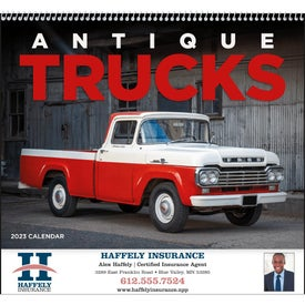 Monogrammed Antique Trucks Appointment Calendar