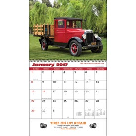Antique Trucks Wall Calendar with Your Logo