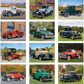 Antique Trucks Wall Calendar for Marketing