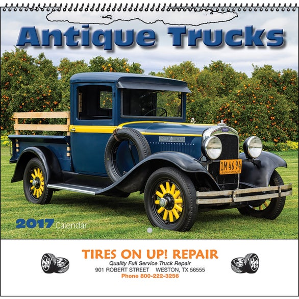 Antique Trucks Wall Calendar