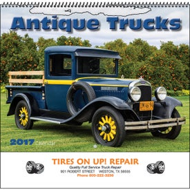 Antique Trucks Wall Calendar Printed with Your Logo