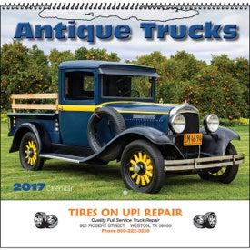 Antique Trucks Wall Calendar (Spiral)