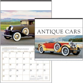 Antique Cars Large Executive Calendar for Promotion